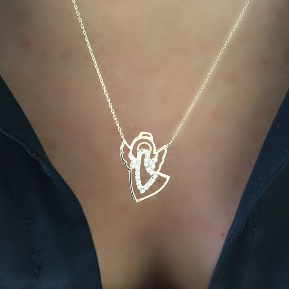 Glorria Angel Gold Necklace