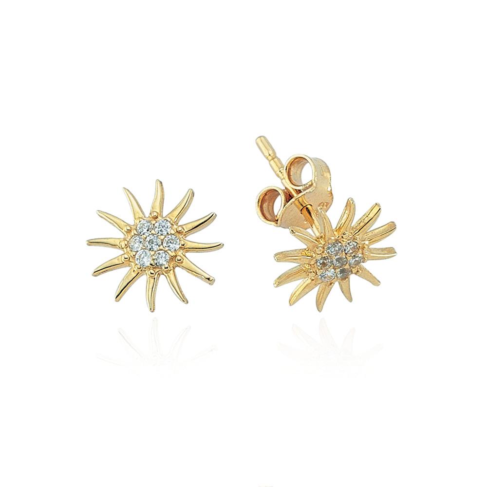 Glorria Gold Sun Earring