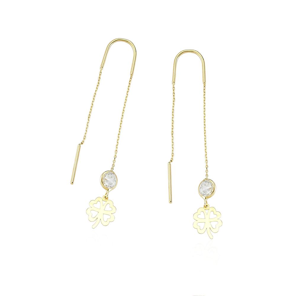 Glorria Gold Clover Earring