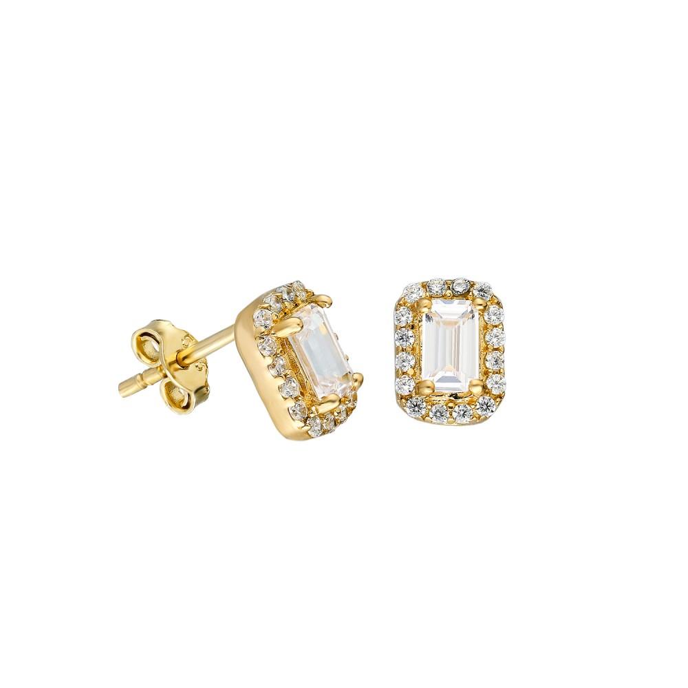 Glorria Gold Baget Earring