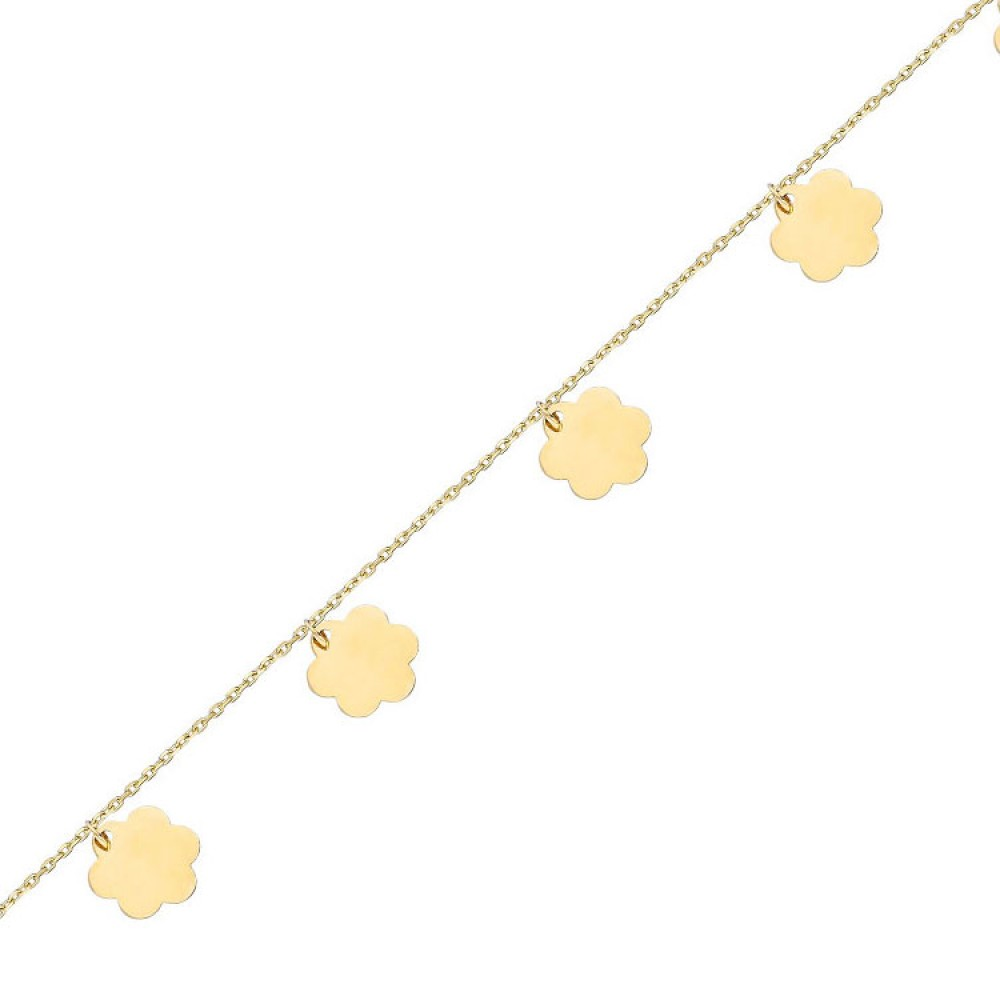 Glorria Gold Clover Bracalet