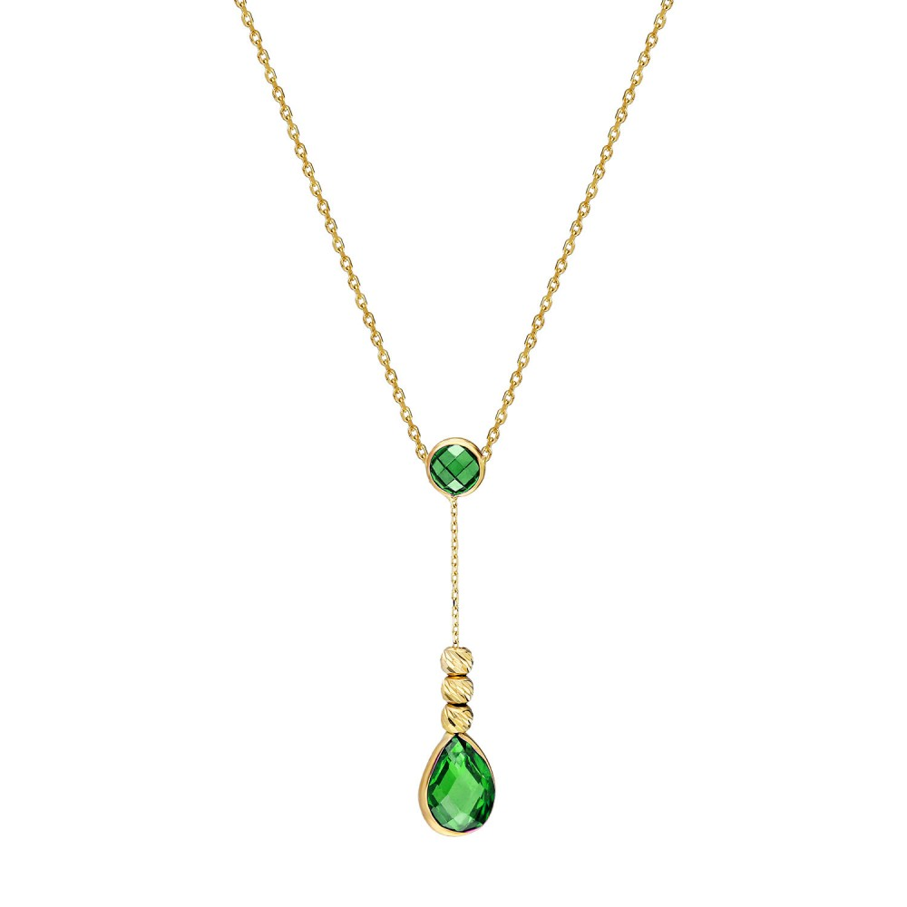 Glorria Gold Dorika Drop Necklace