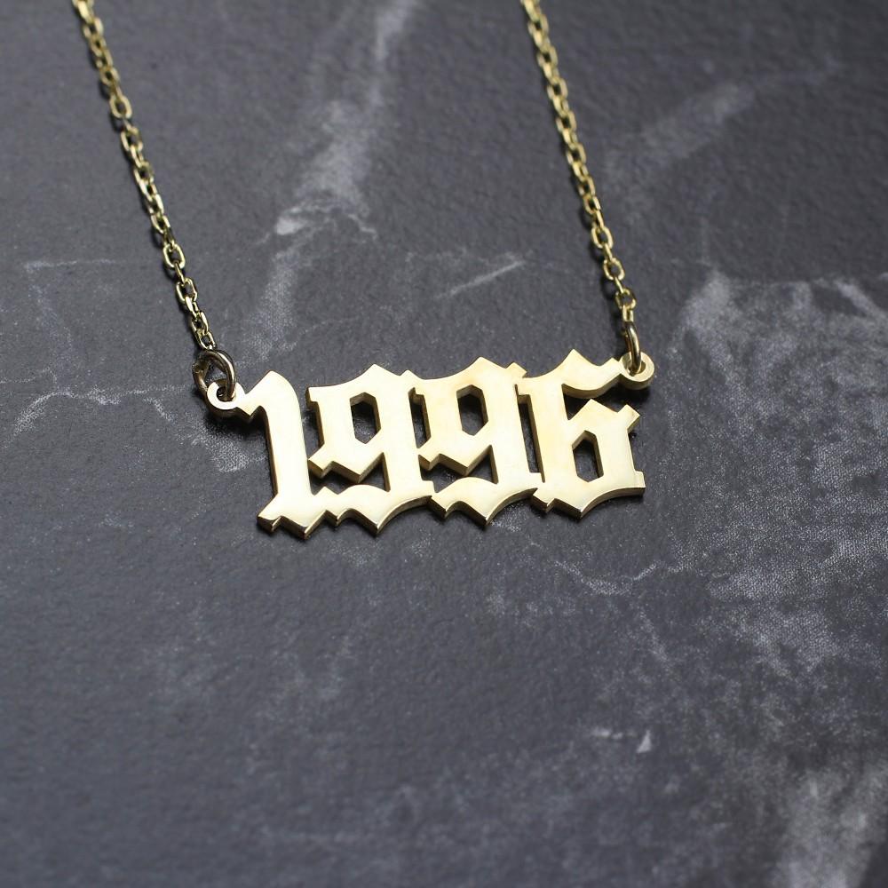 Glorria Silver Custom Date Necklace