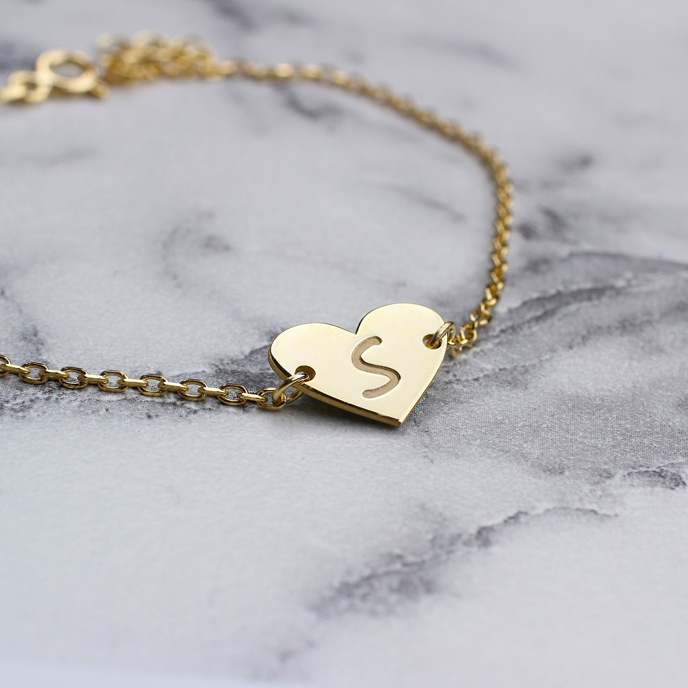 Glorria Silver Custom Initial Bracelet
