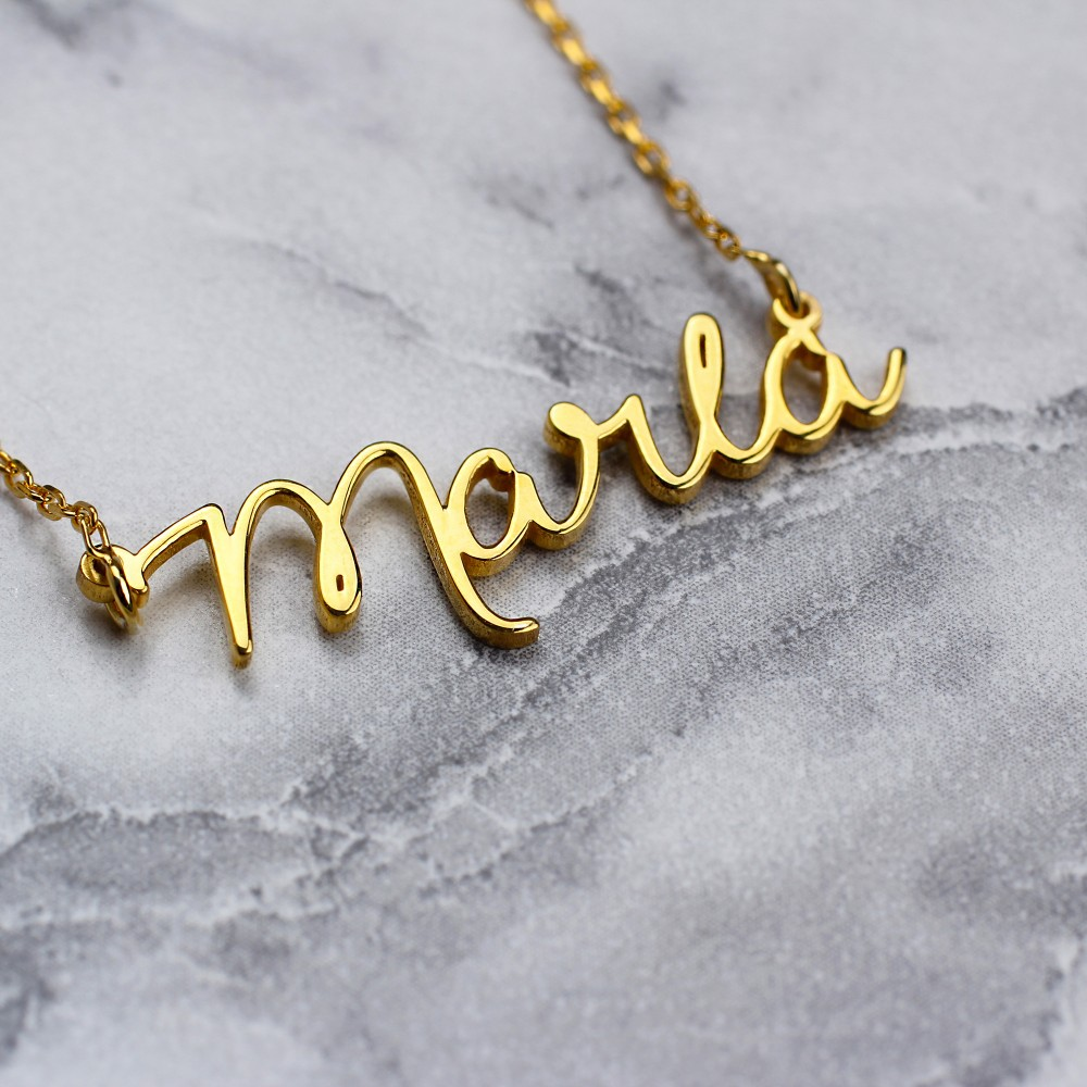 Glorria Silver Custom Initial Necklace