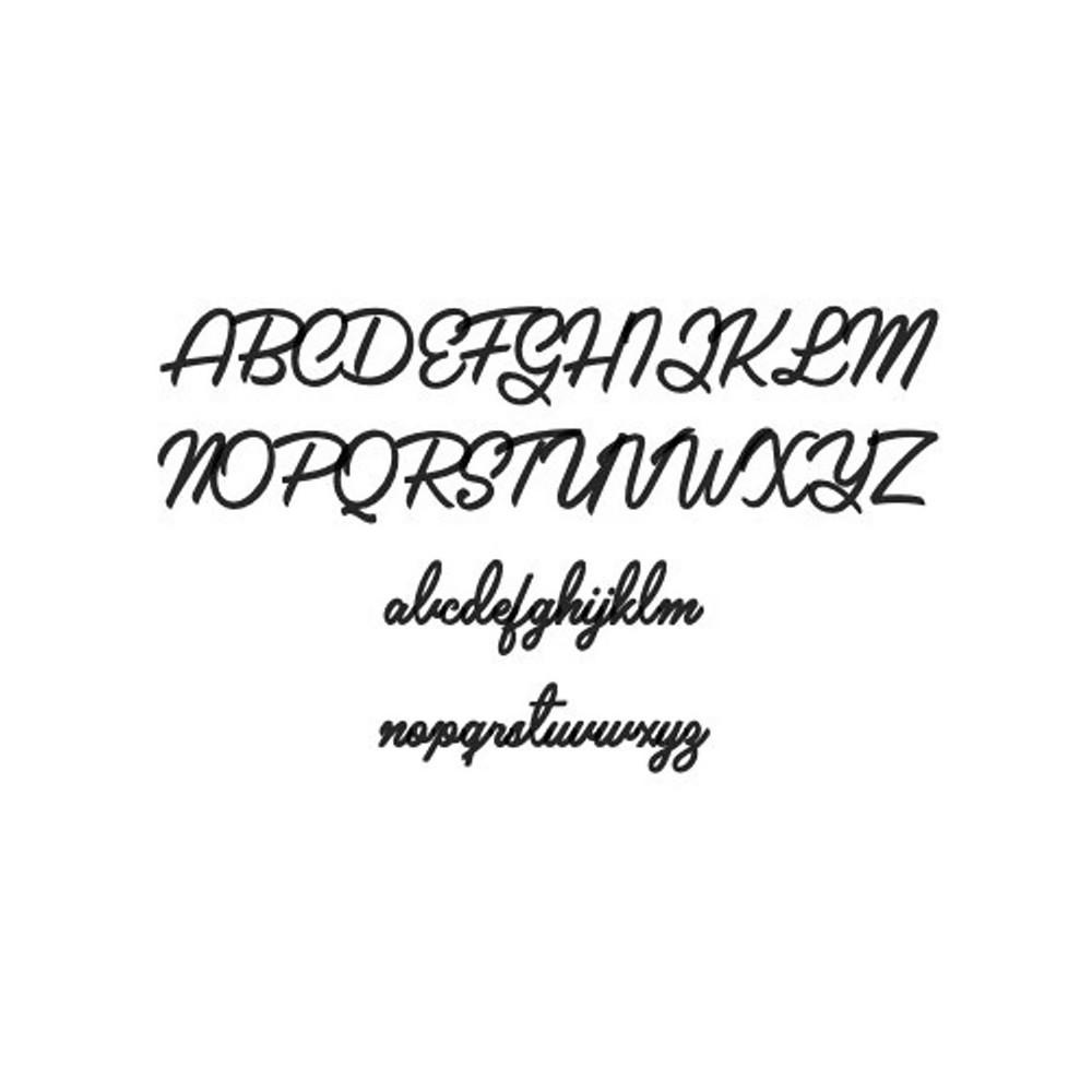 Glorria Silver Dainty Name Pendant