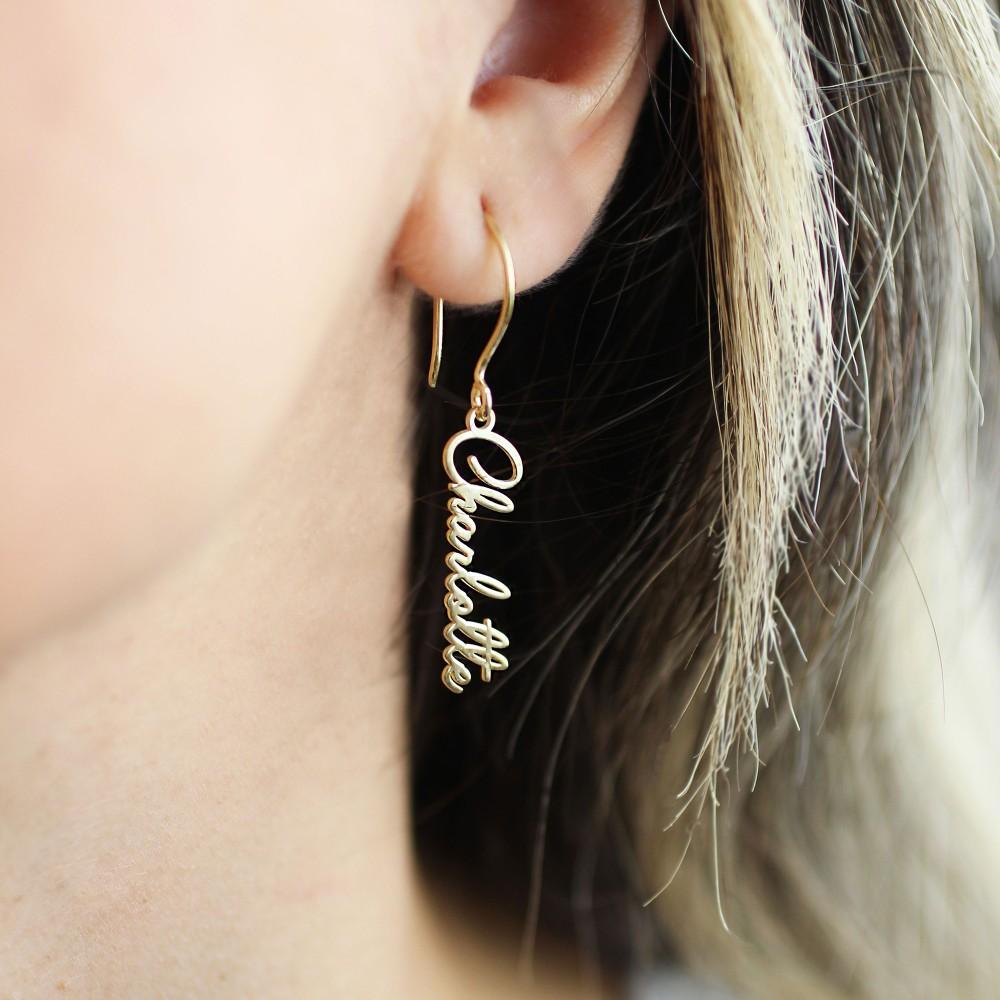 Glorria Silver Dainty Silver Initial Earrings