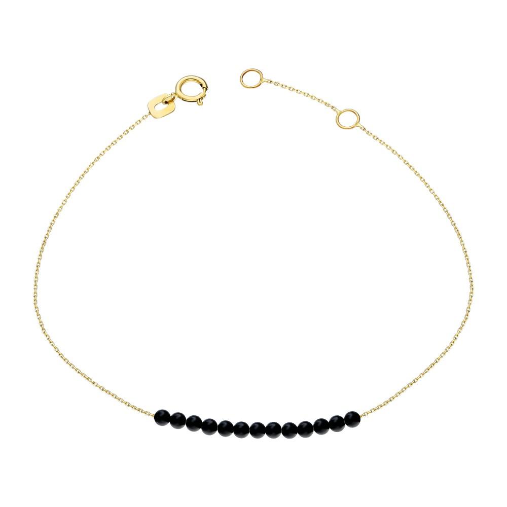 Glorria Gold Onyx Stone Bracelet