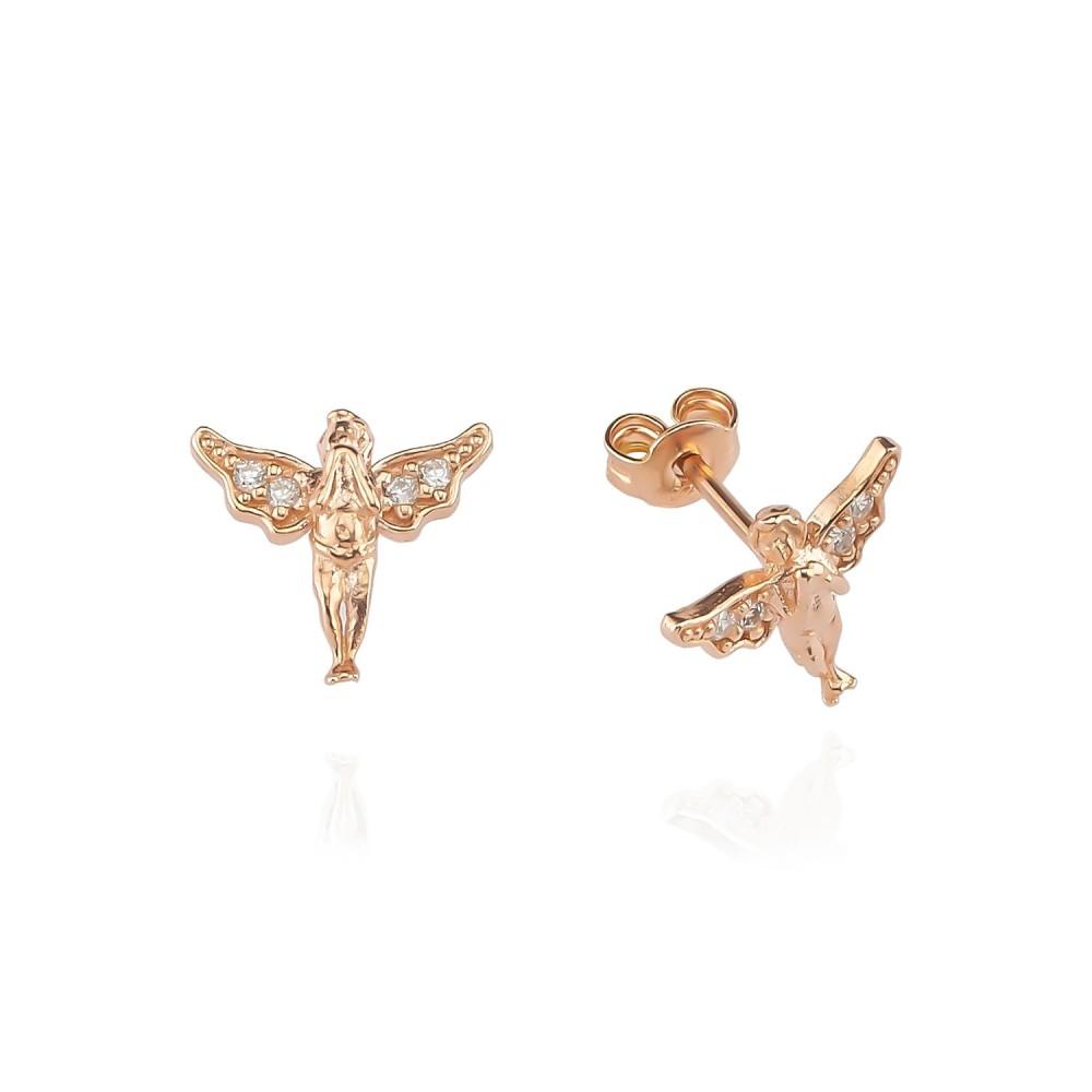 Glorria Silver Angel Earring