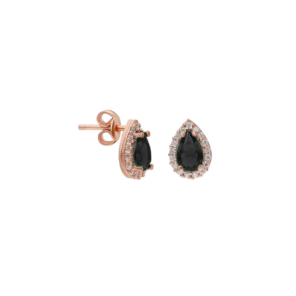 Glorria Silver Black Anthurage Earring