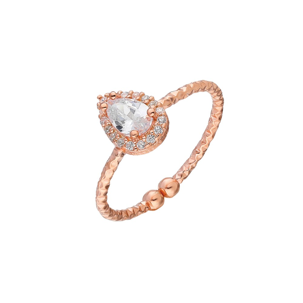 Glorria Silver Drop Anthurage Ring