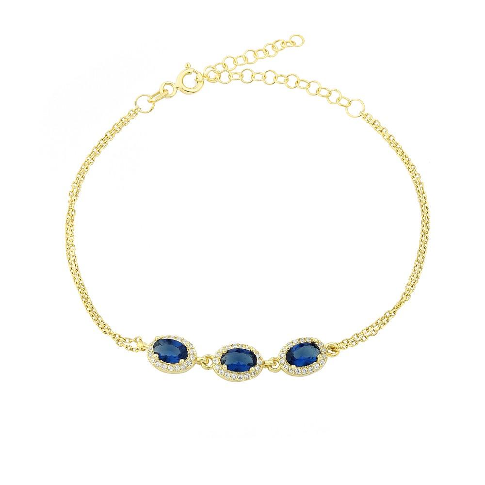 Glorria Silver Anturage Oval Bracelet
