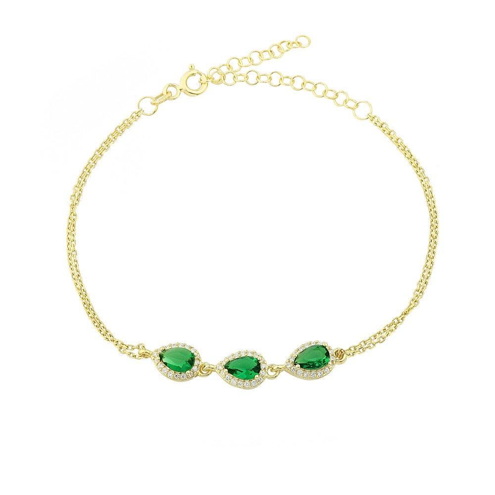 Glorria Silver Anturage Drop Bracelet