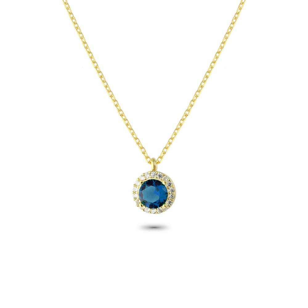 Glorria Silver Anturage Round Necklace