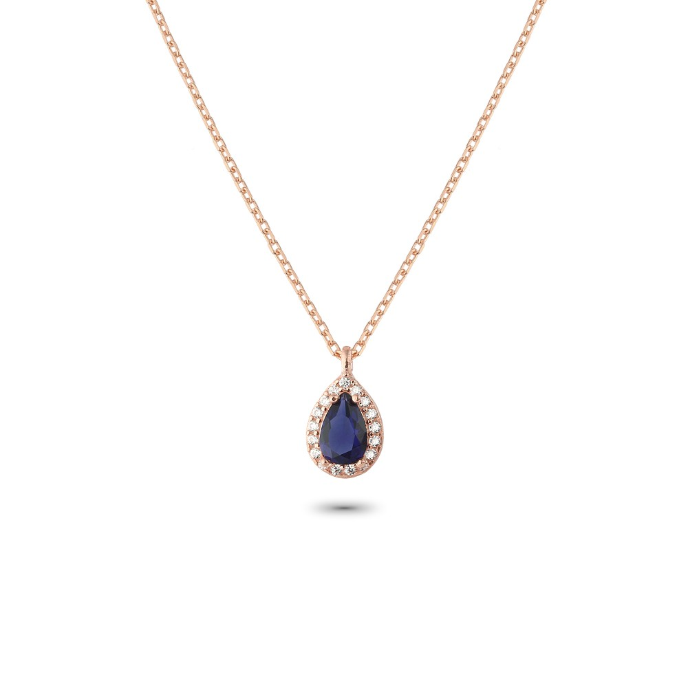 Glorria Silver Anturage Drop Necklace