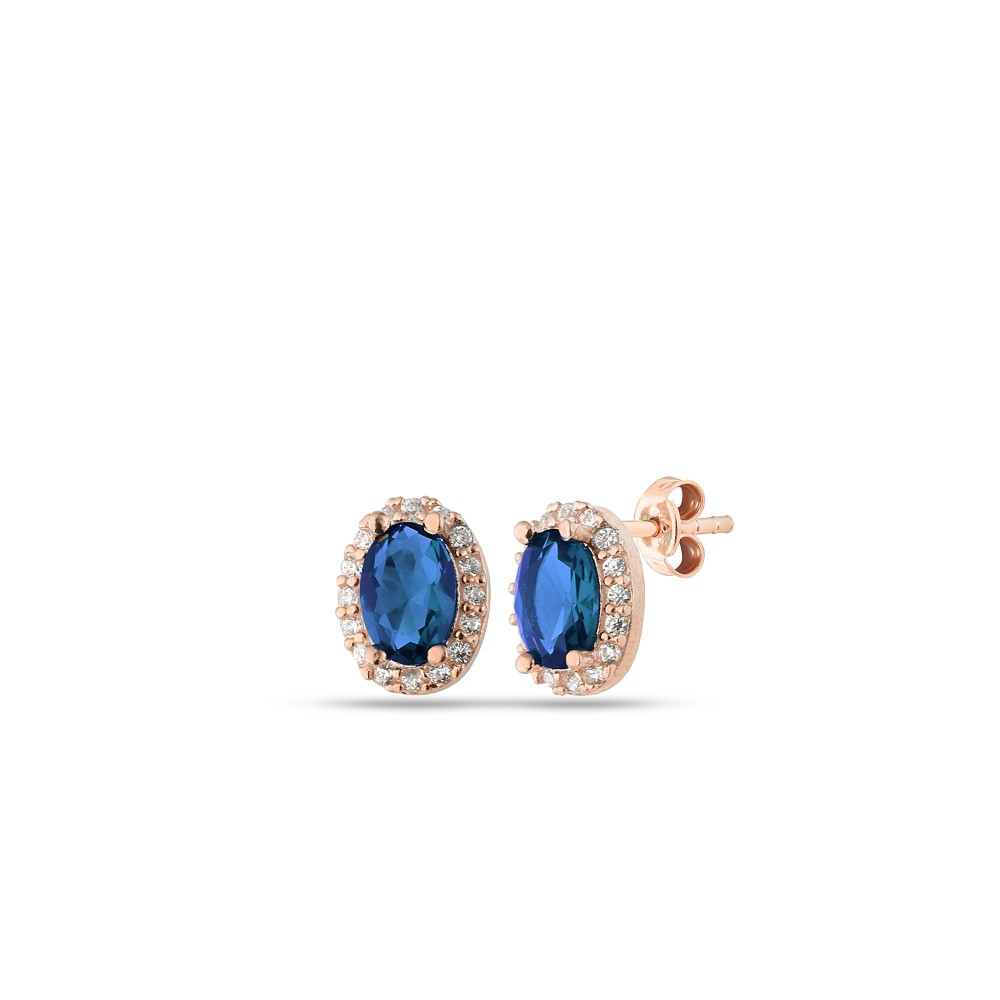 Glorria Silver Anturage Oval Earrings