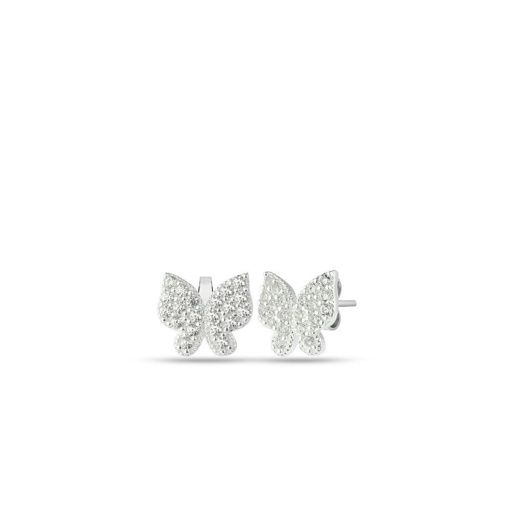 Glorria Silver Butterfly Earrings