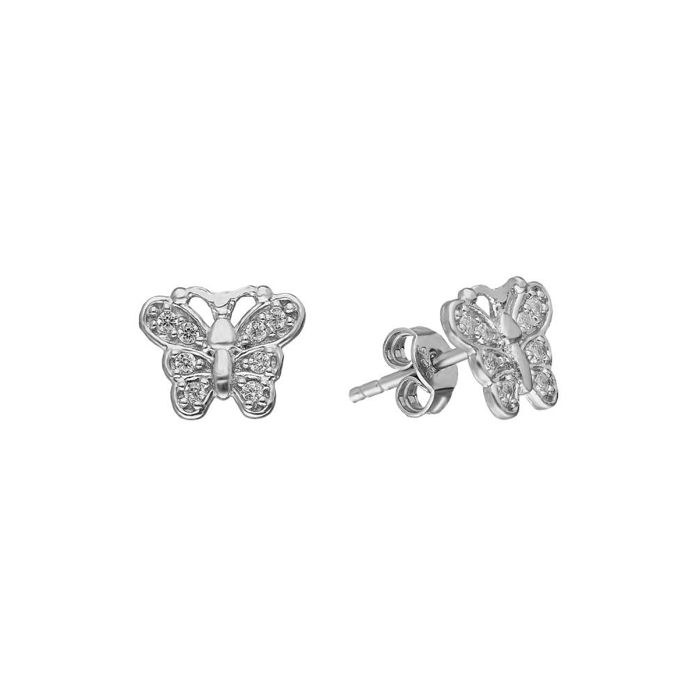 Glorria Silver Butterfly Earring