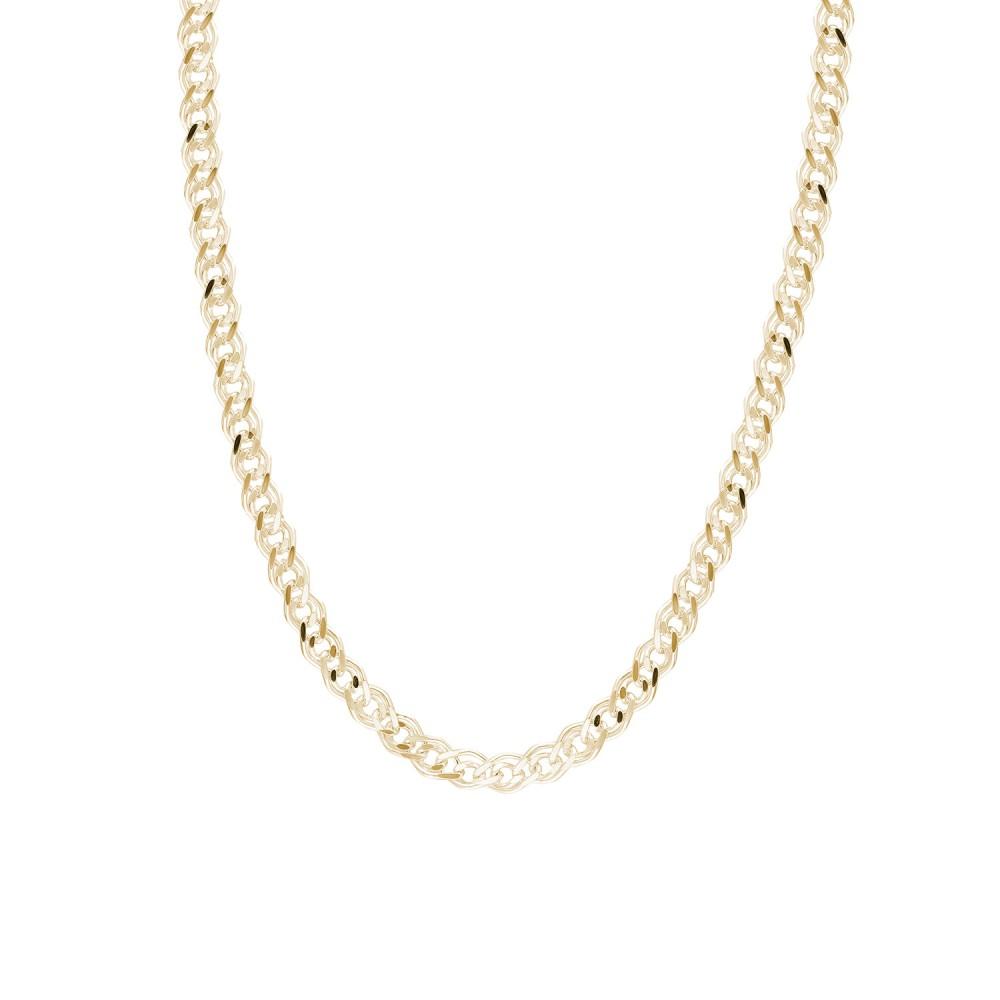 Glorria Silver Yellow Bar Chain