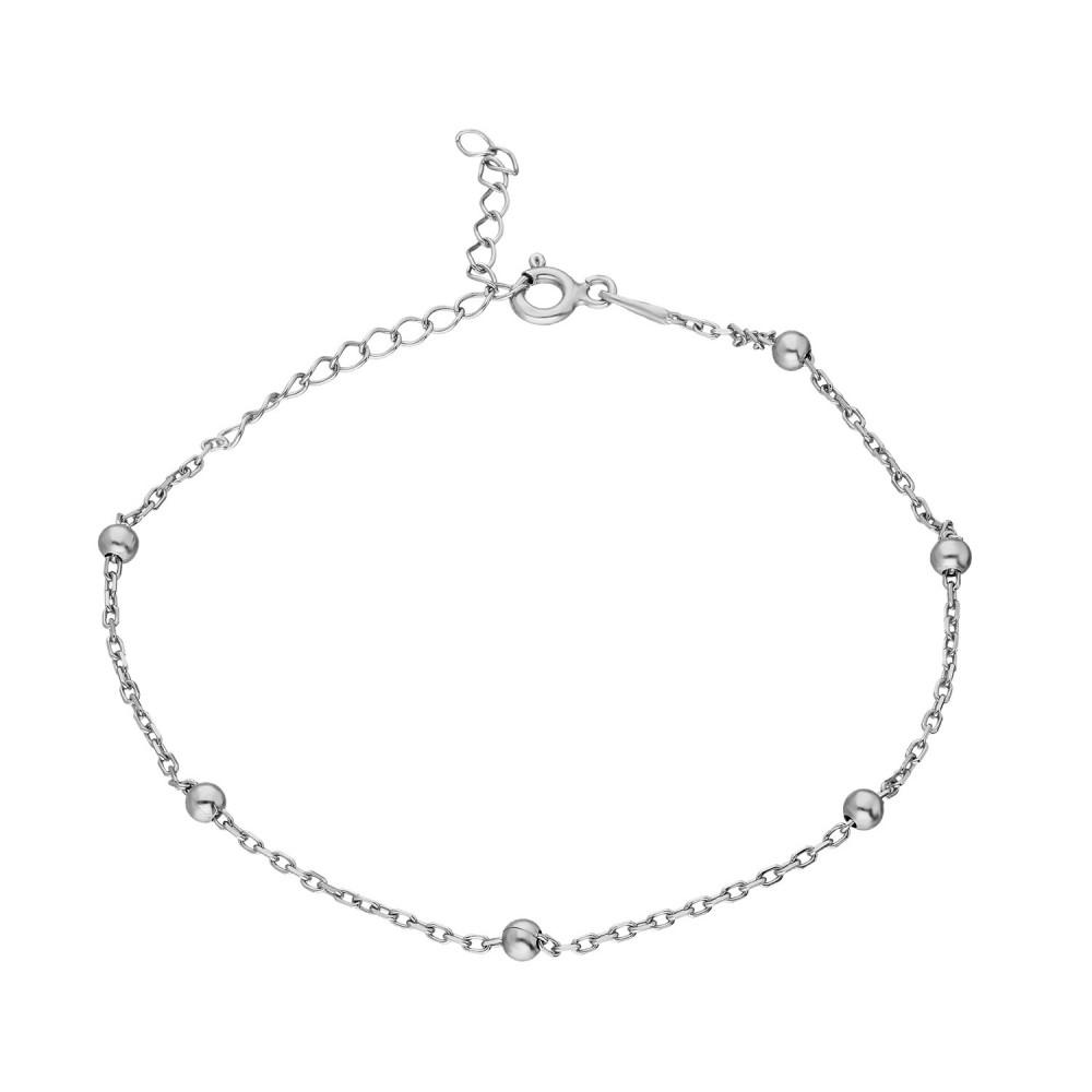 Glorria Silver Ball Chain Bracalet