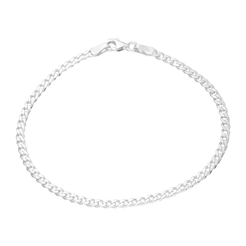 Glorria Silver Gurmet Chain Bracalet