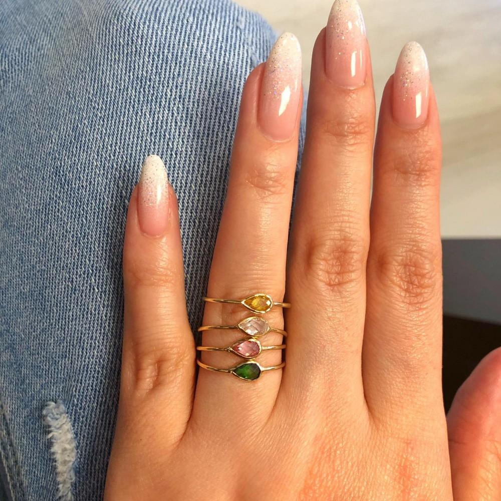 Glorria Gold White Pave