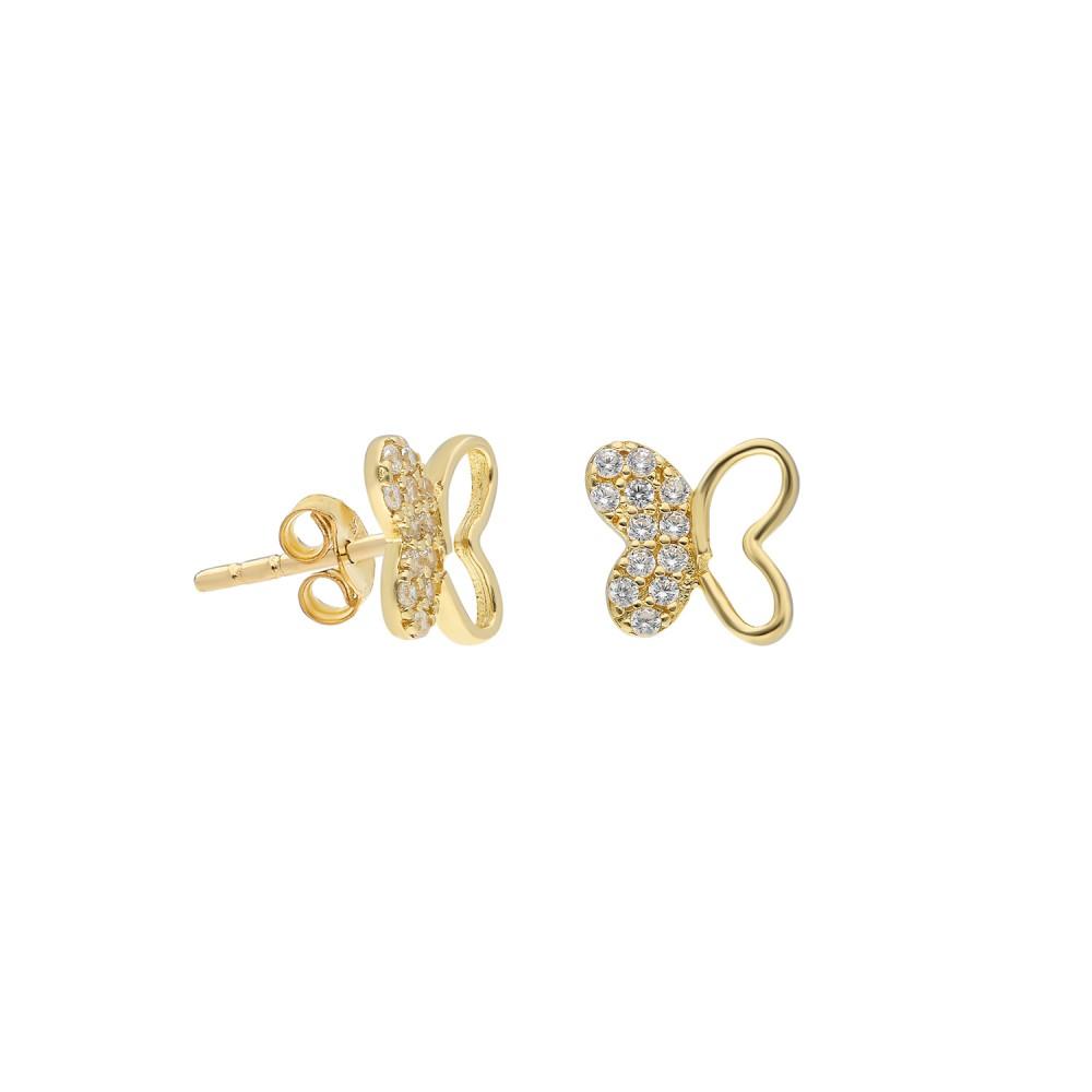 Glorria Gold Butterfly Earring