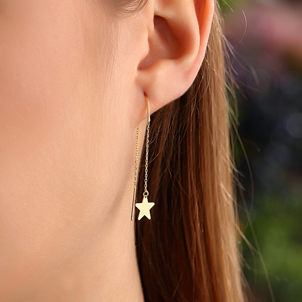 Glorria Gold Star Earring