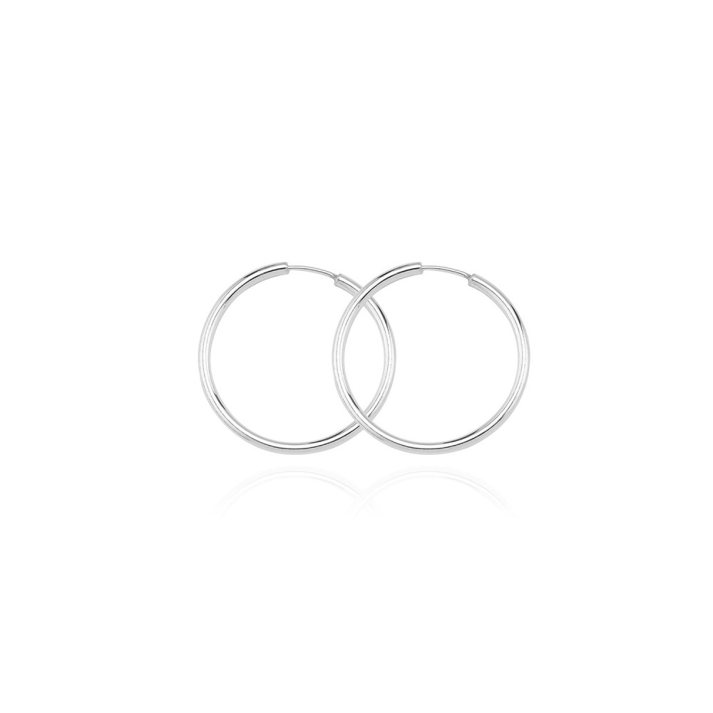Glorria Silver 1 cm Circle Earring