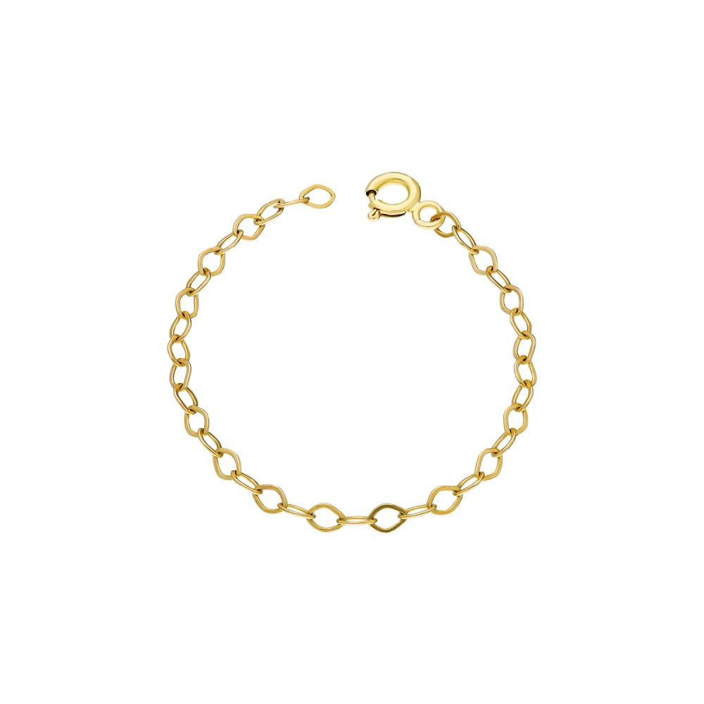 Glorria Silver 10 cm Yellow Extension Chain