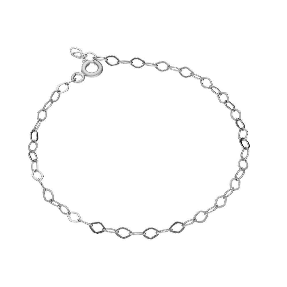 Glorria Silver 15 cm White Extension Chain