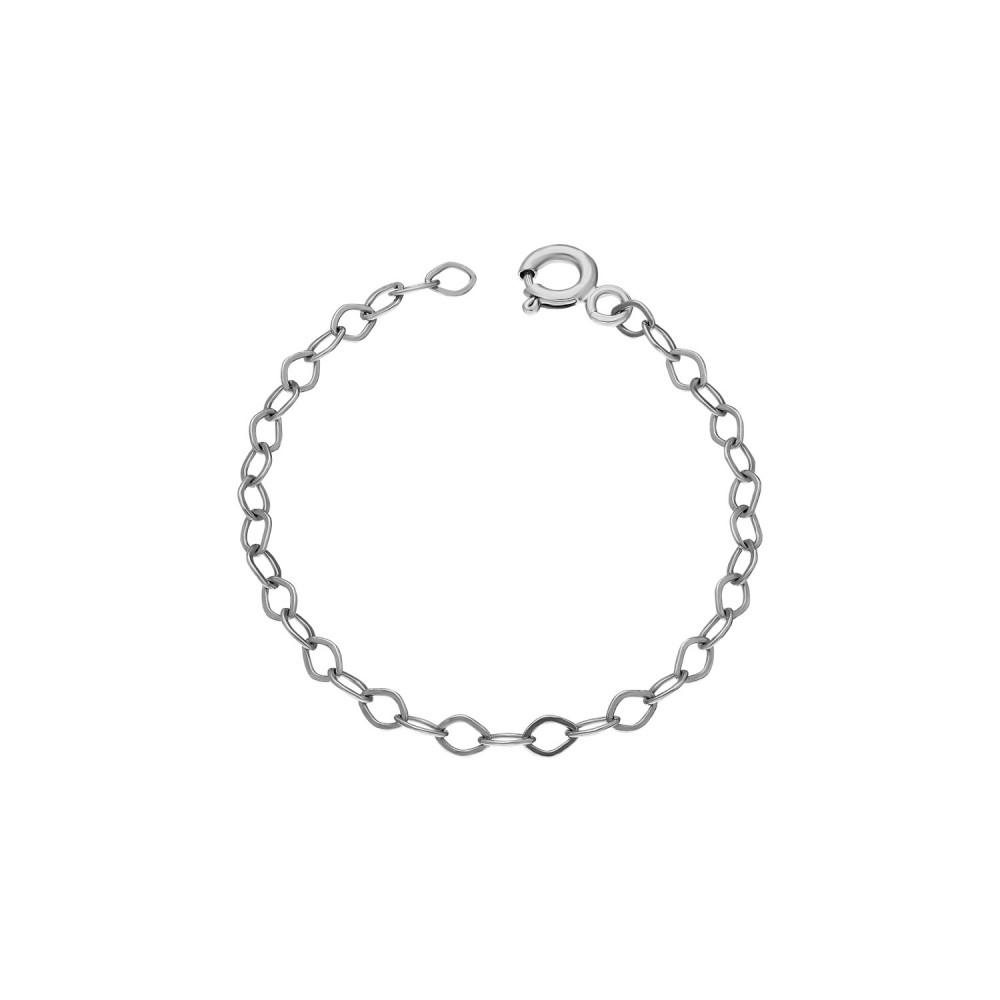 Glorria Silver 10 cm White Extension Chain