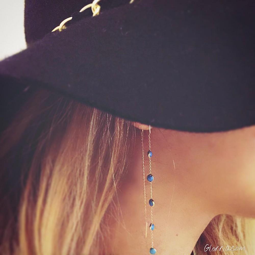Glorria Gold Turquoise Shake Earring