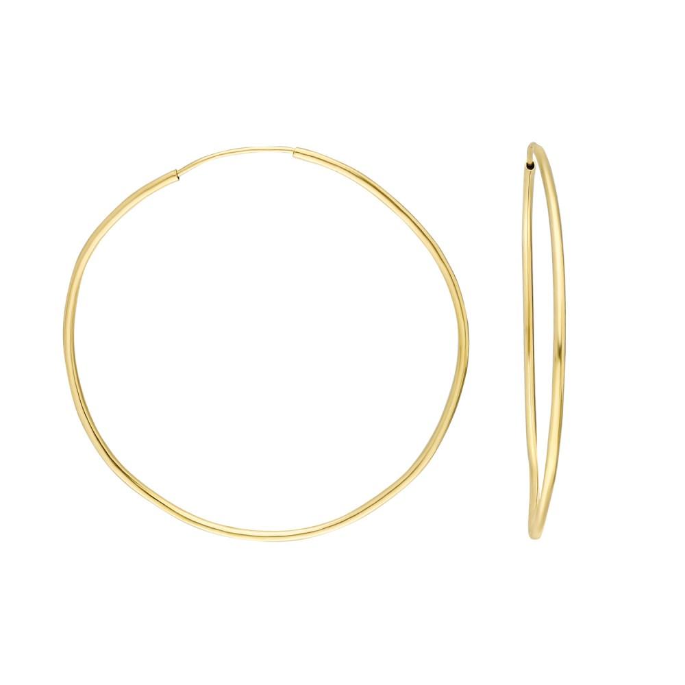 Glorria Gold 4,5 cm Hoop Earrings
