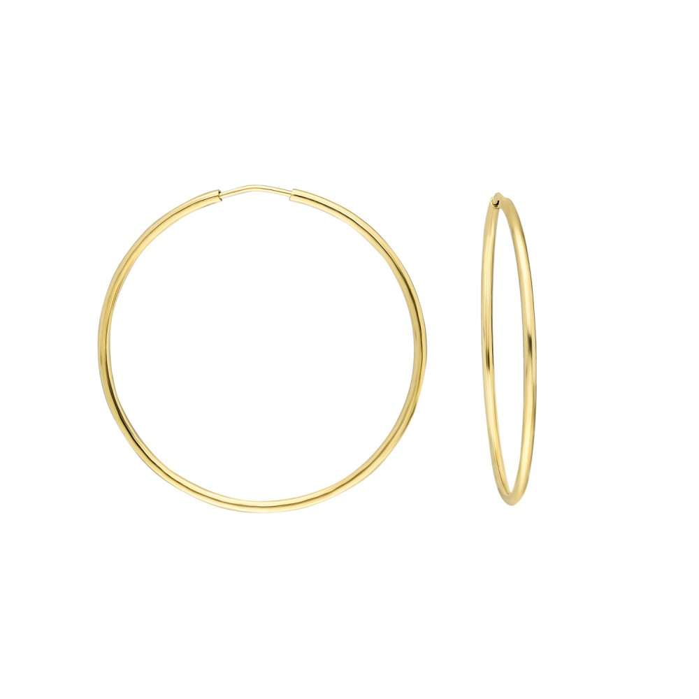 Glorria Gold 3,5 cm Hoop Earrings