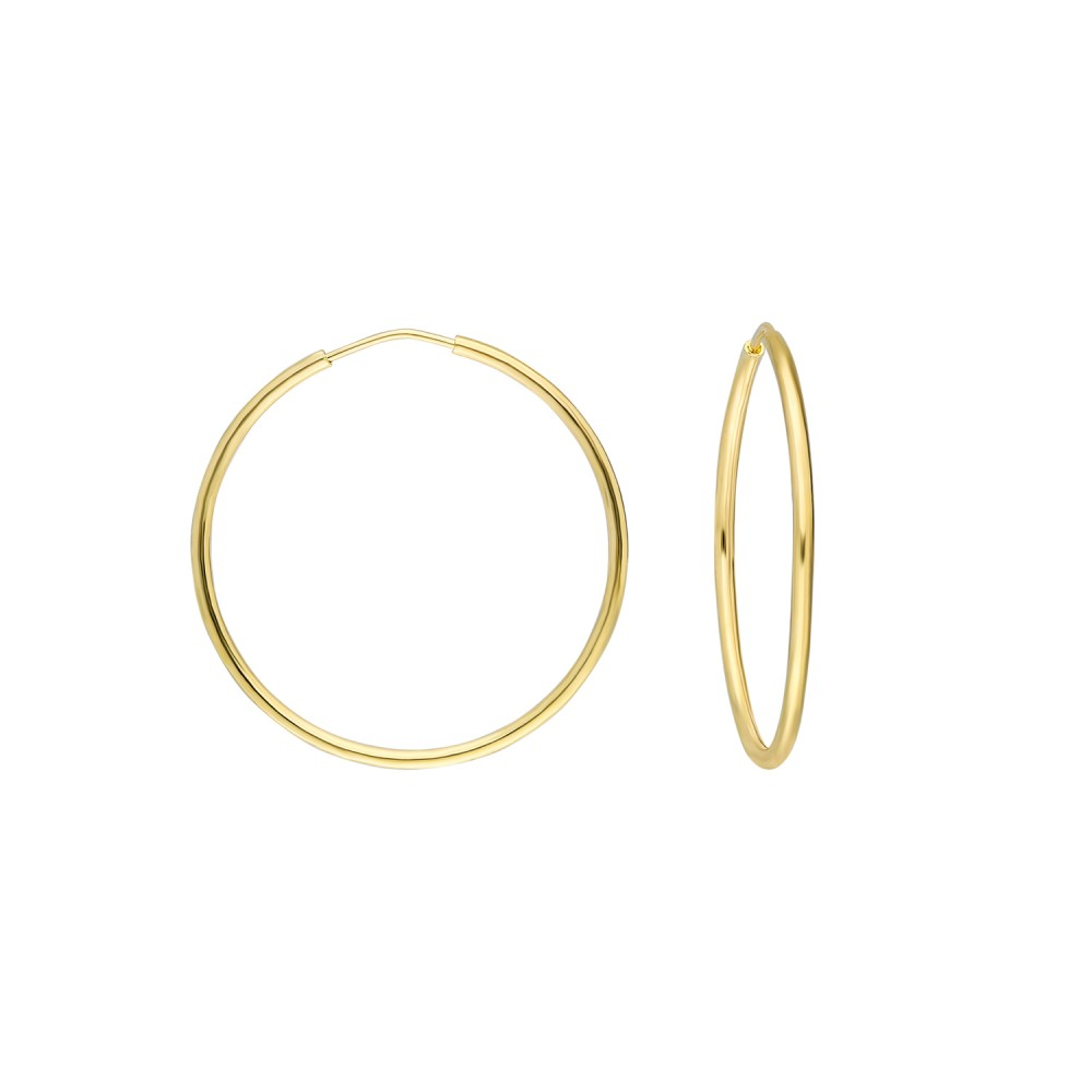 Glorria Gold 3 cm Hoop Earrings