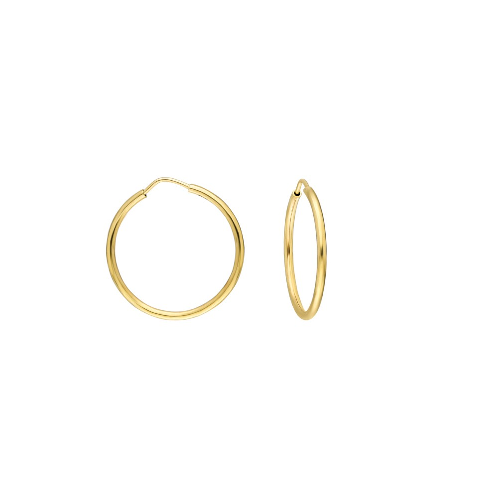 Glorria Gold 2 cm Hoop Earrings