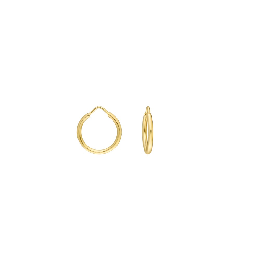 Glorria Gold 1,3 cm  Hoop Earrings