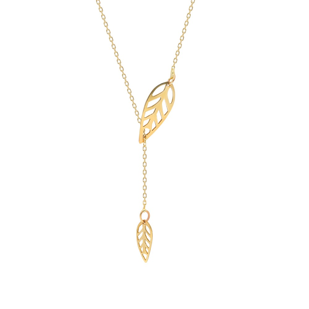 Glorria Gold Leaf Necklace, Bracelet, Flower Gift Set