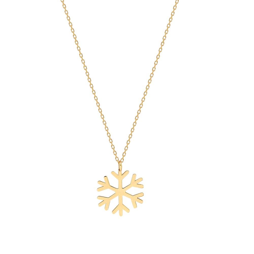 Glorria Gold Snowflake Necklace