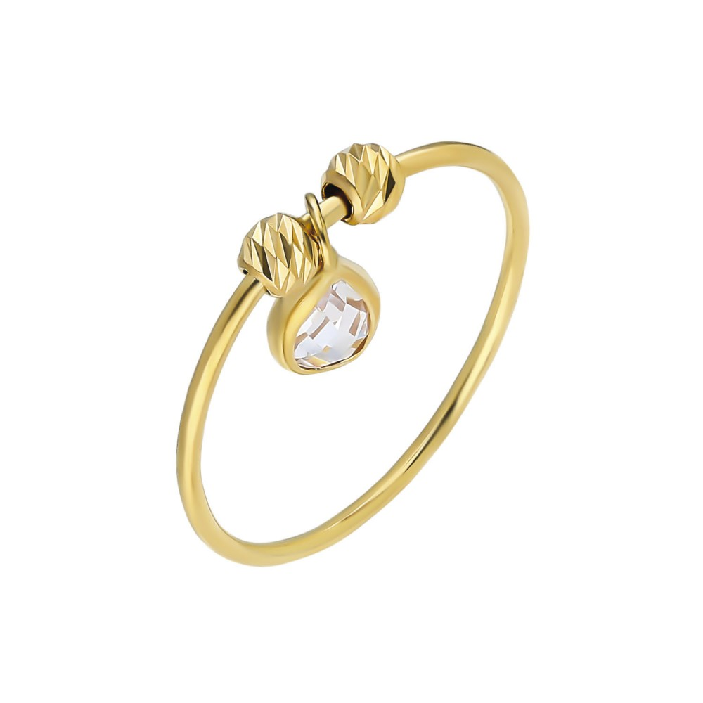Glorria Gold Dorika Drop Ring