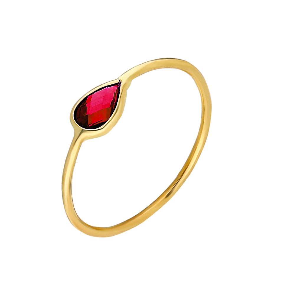 Glorria Gold Red Pave