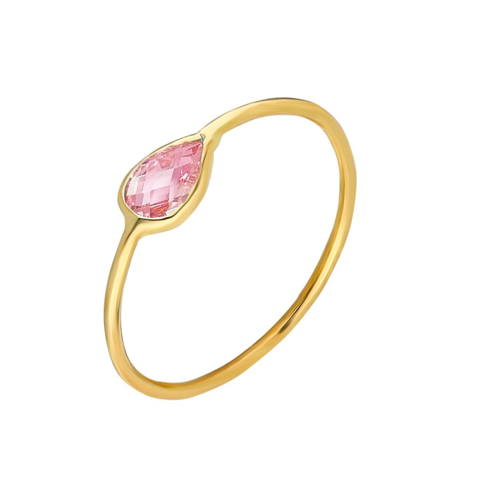Glorria Gold Pink Pave