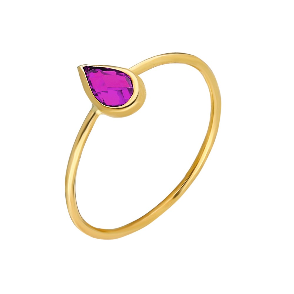 Glorria Gold Purple Pave Drop