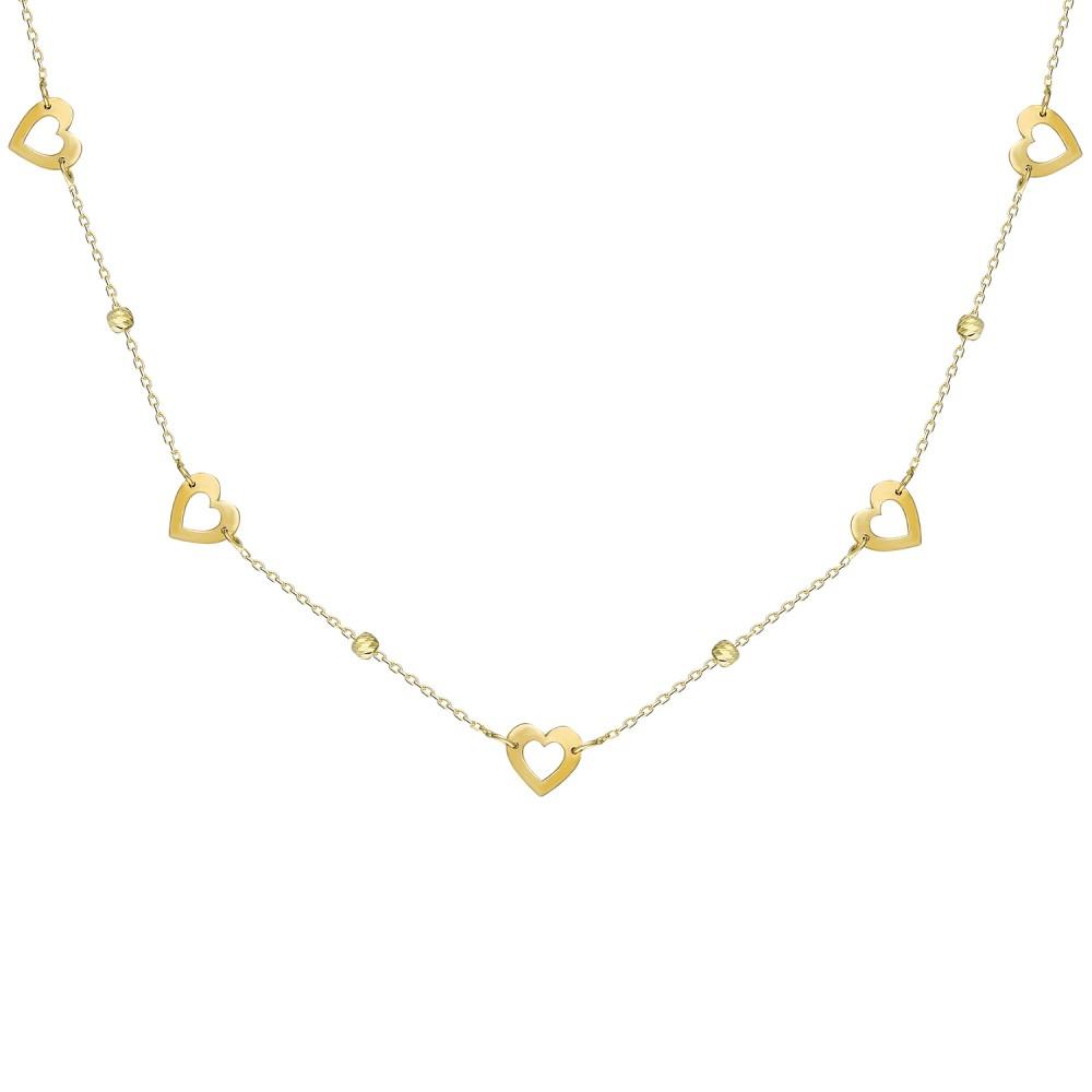 Glorria Gold Dorika Heart  Necklace
