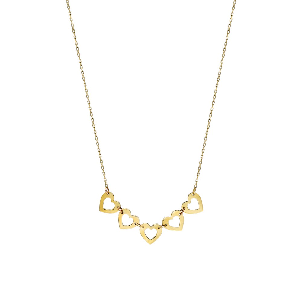 Glorria Gold Heart Necklace
