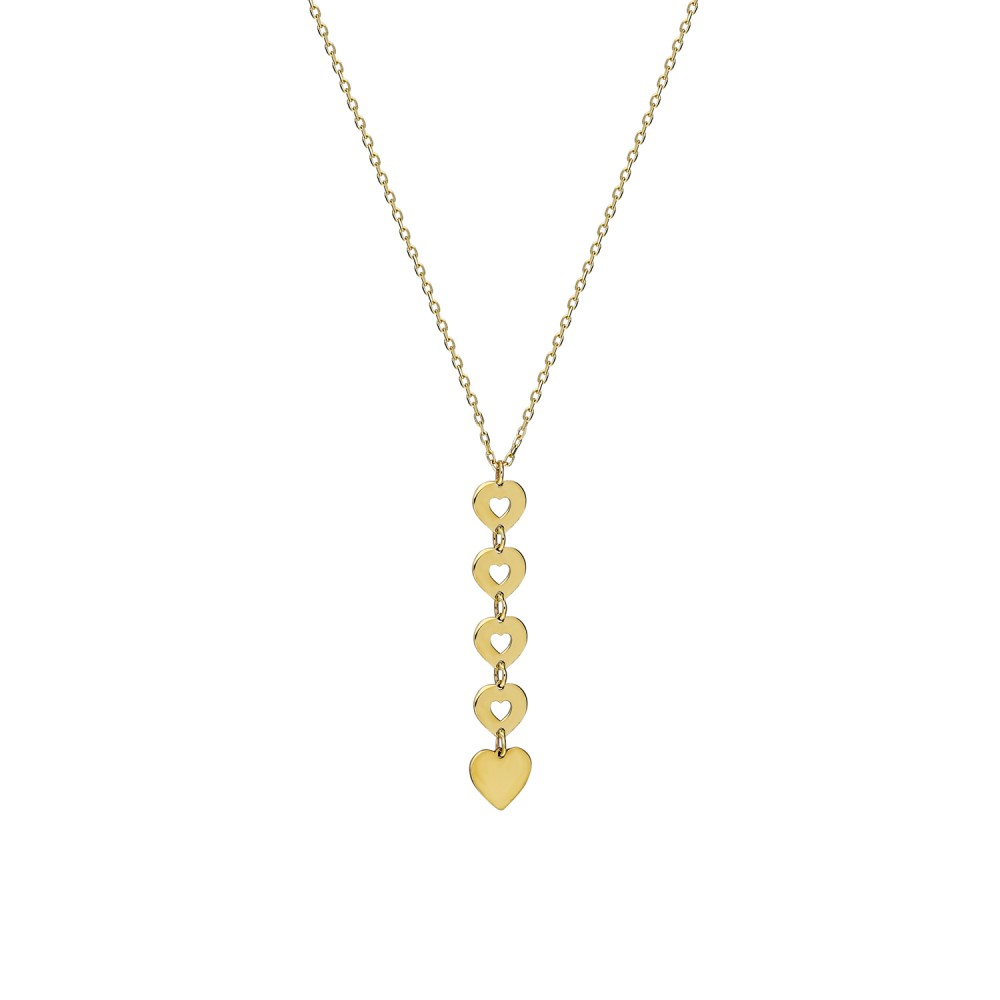 Glorria Gold Heart Necklace