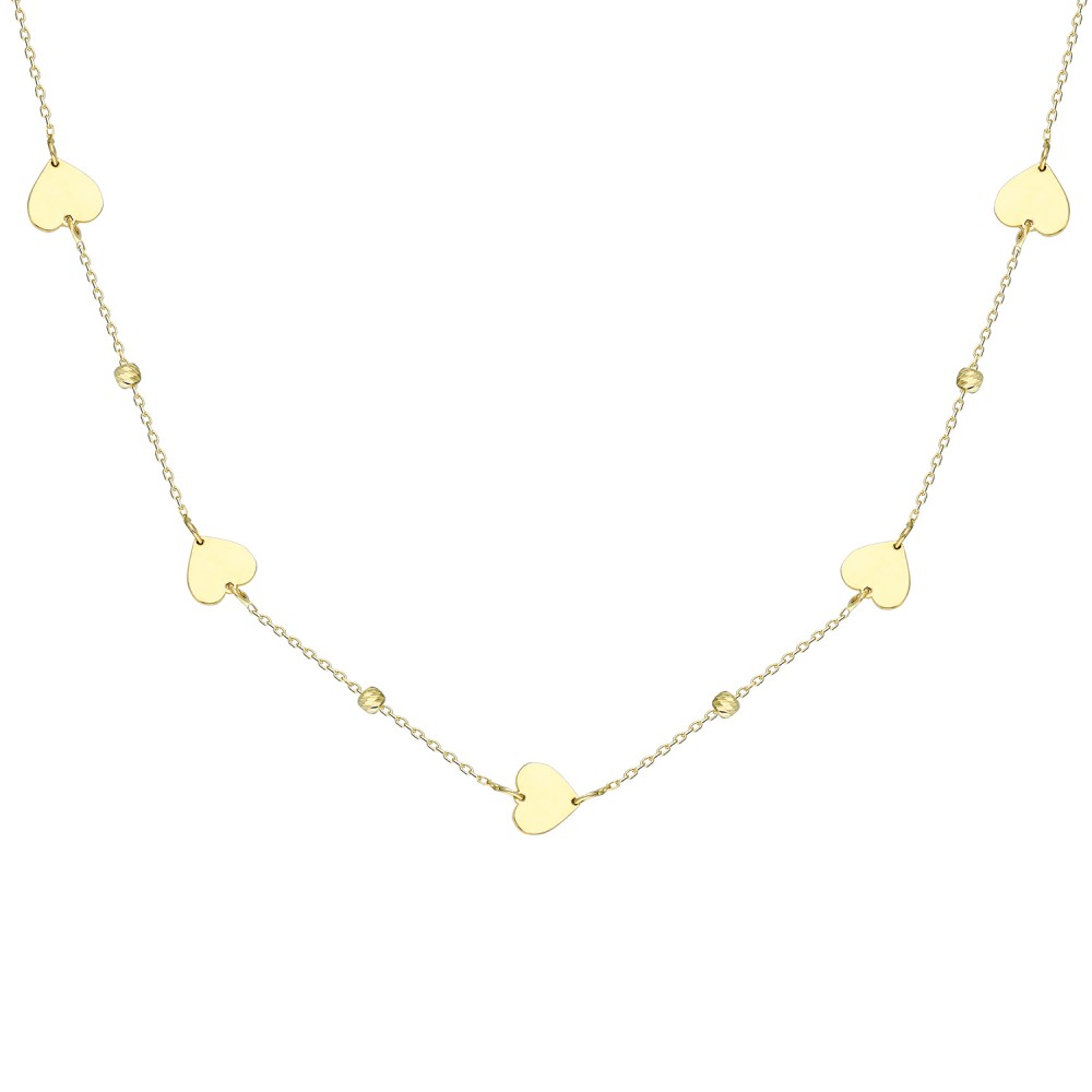 Glorria Gold Dorika Heart  Necklace