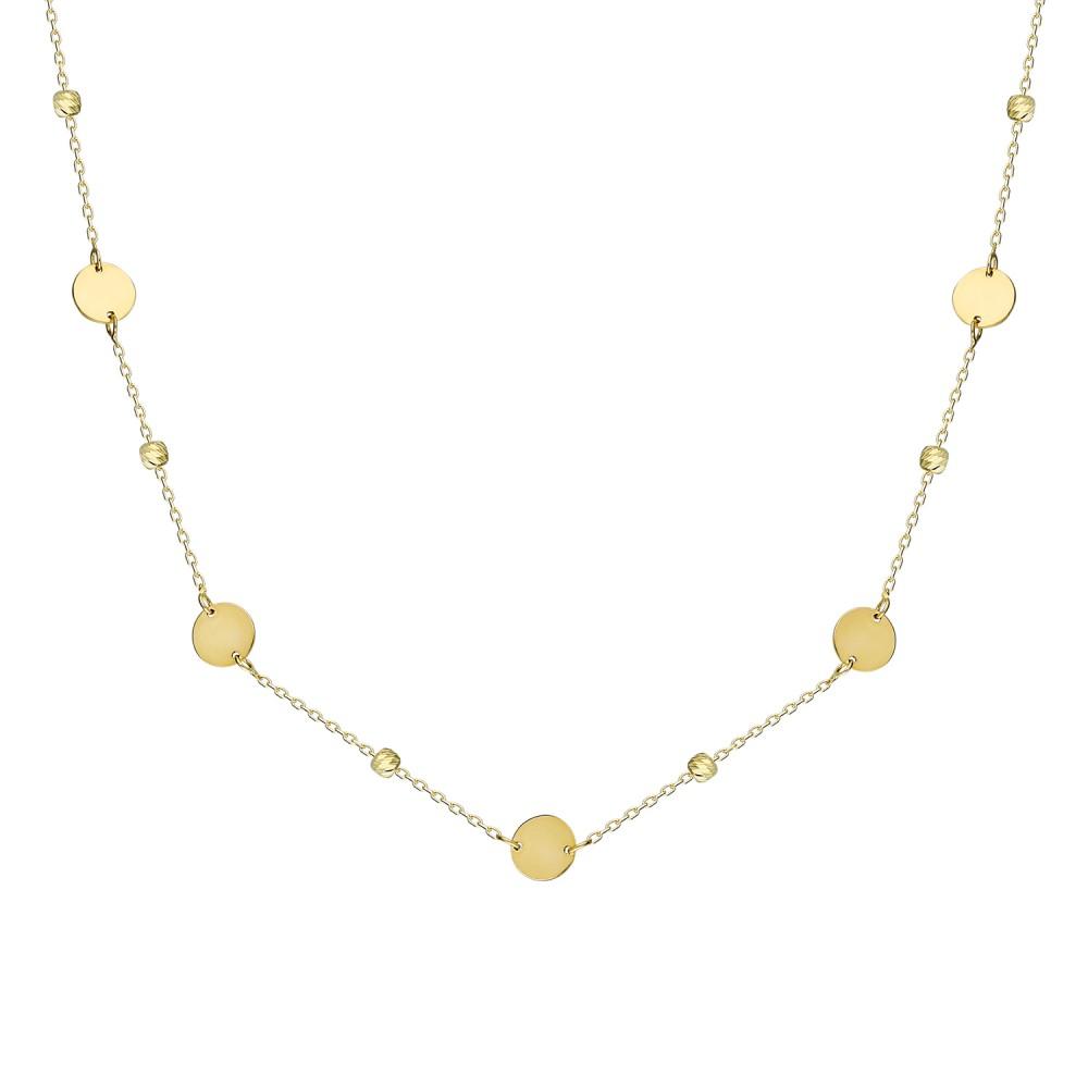 Glorria Gold Dorika Plaque Necklace
