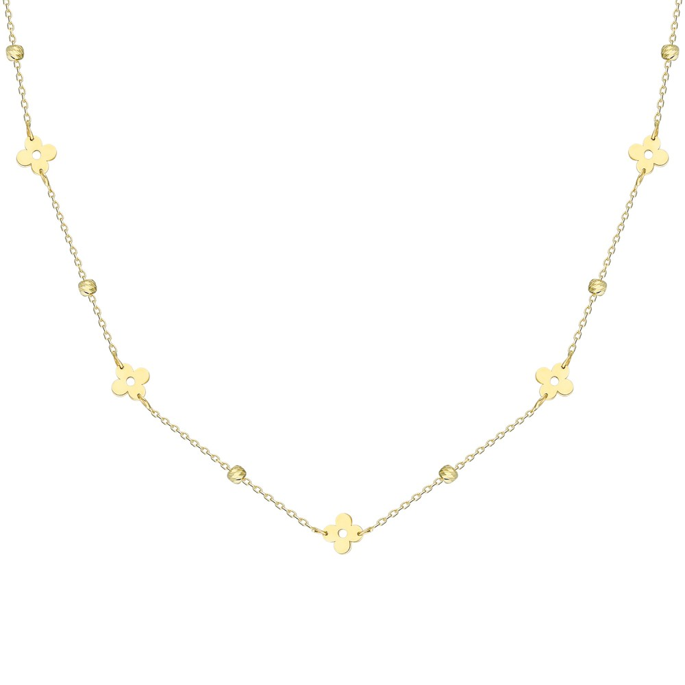 Glorria Gold Dorika Flower Necklace